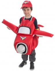 Disfarce avião vermelho criança