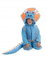 Disfarce dinossauro azul criança