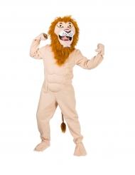 Disfarce leão musculoso adulto