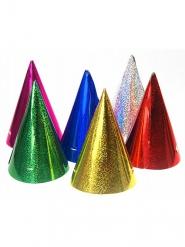 20 Chapéus de festa coloridos holográficos