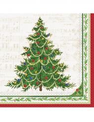 16 Guardanapos de papel árvore de Natal 33 x 33 cm