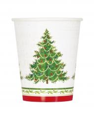 8 Copos de cartão árvore de Natal