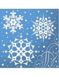16 Guardanapos de papel flocos de Natal
