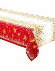 Toalha de plástico Natal vermelho e dourado