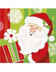 16 Pequenos guardanapos de papel Pai Natal