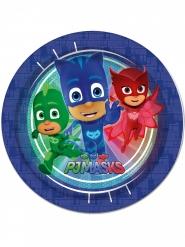 8 Pratos de cartão azul Pj masks™