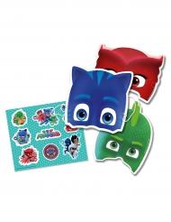 Lote 6 máscaras e autocolantes Pj Masks™