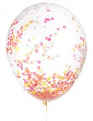 Balões em látex confetis fosforescentes 30 cm