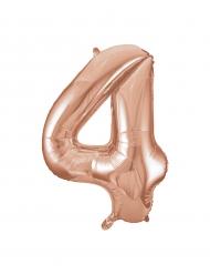 Balão alumínio cor-de-rosa gold número 4 - 86.3 cm