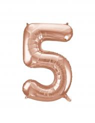 Balão alumínio cor-de-rosa gold número 5 - 86.3 cm