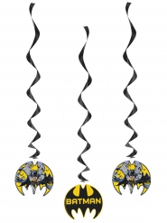 3 Decorações espiral para pendurar Batman™