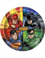 8 Pratos de cartão Justice League™