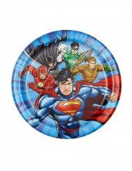 8 Pratos pequenos de cartão Justice League™