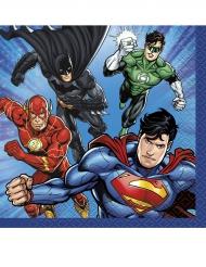 16 Guardanapos pequenos de papel Justice League™