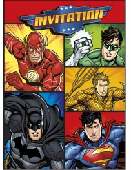8 Convites e envelopes Justice League™
