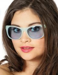 Óculos blues fosforescentes brancos adulto