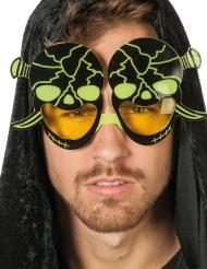Oculos caveira fluorescente - adulto