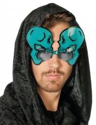 Óculos esqueletos fosforescentes adulto Halloween