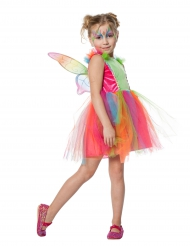 Disfarce borboleta colorida menina