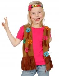 Colete e bandolete hippie flower criança