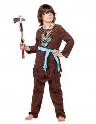 Disfarce índio com plastrão colorido menino