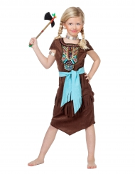 Disfarce índia com plastrão colorido menina