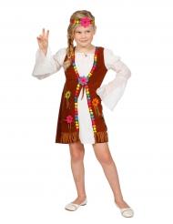Disfarce miss hippie branca menina