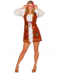 Disfarce miss hippie branca mulher