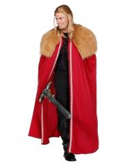 Capa guerreiro do norte vermelho homem