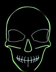 Máscara de néon esqueleto