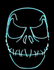 Máscara de néon boca cosida