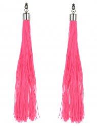 Brincos franja cor-de-rosa fluo adulto