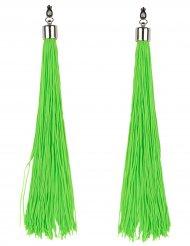 Brincos franjas verdes fluo adulto