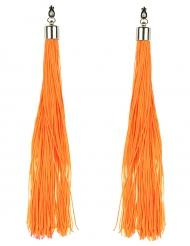 Brincos franja cor de laranja fluo adulto