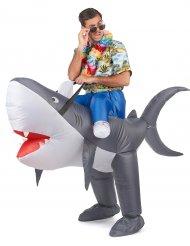 Disfarce tubarão insuflável adulto