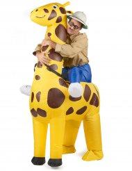 Disfarce insuflável girafa