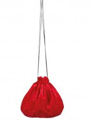 Bolsa veludo vermelho 27 cm