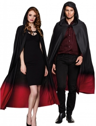 Capa preta e vermelha adulto Halloween