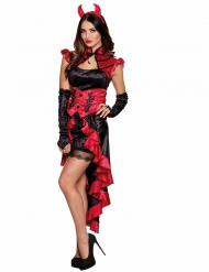 Disfarce demónio gótico mulher Halloween