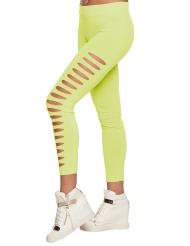 Legging furado verde adulto