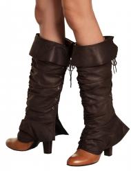 Cobre-botas medievais castanhas mulher