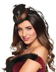 Mini chapéu engrenagem Steampunk - mulher
