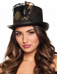 Chapéu alto rodas dentadas adulto Steampunk