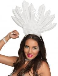 Bandolete brasileira penas brancas mulher