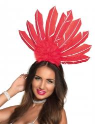 Bandolete brasileira penas vermelhas mulher