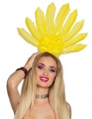 Bandolete brasileira penas amarelas mulher