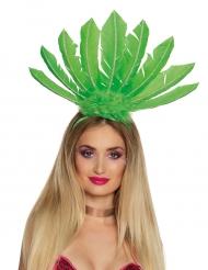 Bandolete brasileira penas verdes mulher