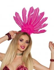 Bandolete brasileira penas cor-de-rosa mulher