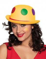 Chapéu de palhaço às bolinhas adulto