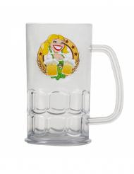 Caneca de cerveja transparente 14 cm Festa da Cerveja
